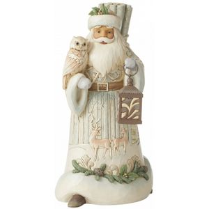 Heartwood Creek White Woodland Santa Figurine - Seek Wonder within the Winter
