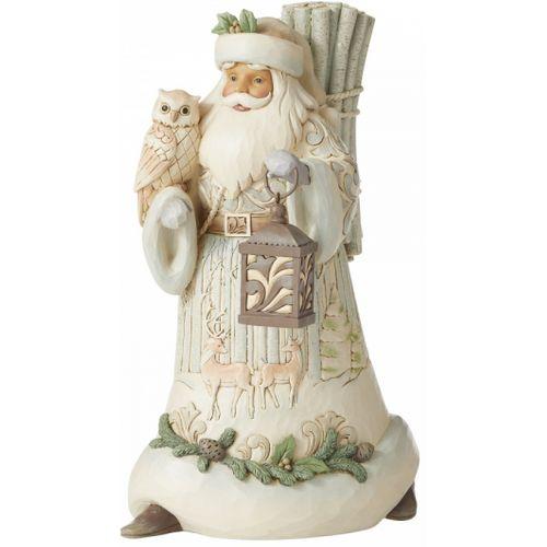 Heartwood Creek White Woodland Santa Figurine - Seek Wonder within the Winter 6006578
