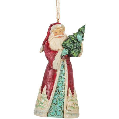 Heartwood Creek Hanging Ornament - Santa with Tree