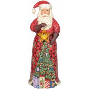 Heartwood Creek Santa Statue Figurine - Santa with Lighted Star