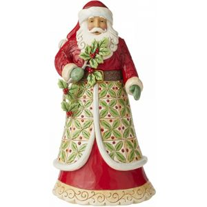 Heartwood Creek Santa Figurine - Holy Jolly Holiday (Santa with Holly)