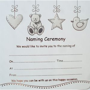Naming Ceremony Invitations