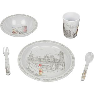 Disney Christopher Robin Melamine Crockery Set - Winnie The Pooh & Friends