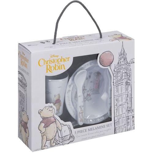 Disney Christoher Robin Melamine Crockery Set - Winnie The Pooh & Friends