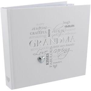 "Celebrations Heartfelt Moments Photo Album Holds 50 4"" x 6"" Prints - Grandma"