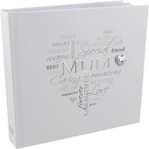 "Celebrations Heartfelt Moments Photo Album Holds 50 4"" x 6"" Prints - Mum"