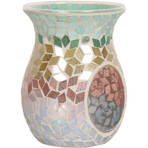 Aroma Wax Melt Burner: Tricolour Diamond