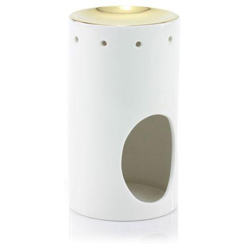 Ashleigh & Burwood Oil Burner - Tower (White & Gold)