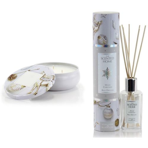 Ashleigh & Burwood The Scented Home Reed Diffuser & Candle Set - White Christmas