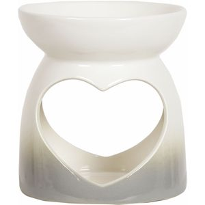 Aroma Wax Melt Burner: Grey Heart