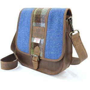 Harris Tweed Saddle Bag: Twin Colour