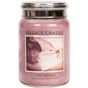 Village Candle Large Jar with Metal Lid - Cozy Cashmere