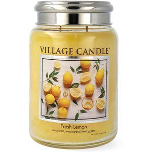 Village Candle Large Jar with Metal Lid - Fresh Lemon