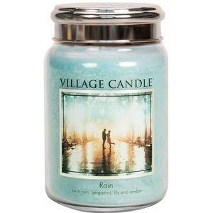 Village Candle Large Jar with Metal Lid - Rain