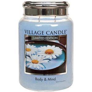 Village Candle Spa Collection Large Jar with Metal Lid - Body & Mind