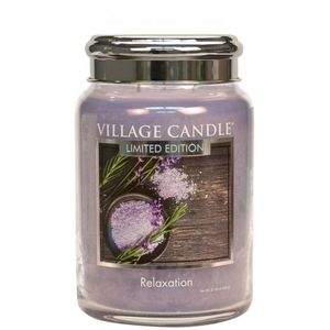 Village Candle Spa Collection Large Jar with Metal Lid - Relaxation