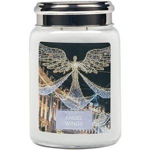 Village Candle Large Jar with Metal Lid - Angel Wings