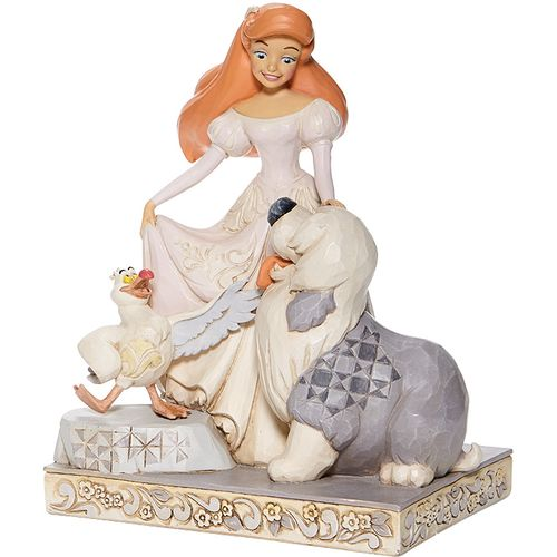Disney Traditions White Woodland Figurine - Spirited Siren (Ariel) 6008066