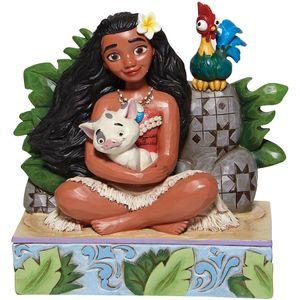 Disney Traditions Welcome to Motunui (Moana with Pua and Hei Hei) Figurine