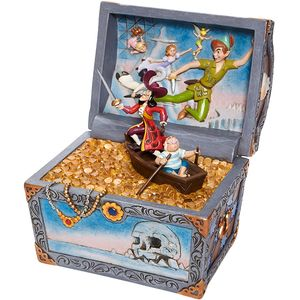 Disney Traditions Scene Figurine - Treasure Strewn Tableau (Peter Pan Flying)