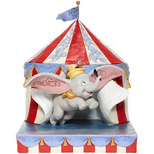 Disney Traditions Over the Big Top (Dumbo Circus out of Tent) Figurine