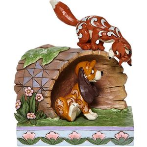 Disney Traditions Unlikely Friends (The Fox & The Hound) Log Figurine