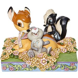 Disney Traditions Childhood Friends Bambi Thumper & Flower Figurine