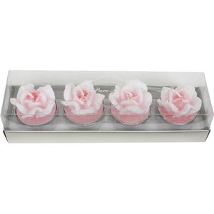 Rose Shaped Unscented Tea Lights Bulk Pack (96 Tea Lights)