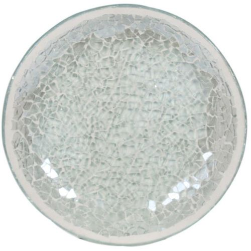 Ice white Lustre Mosaic Candle Plate VC556L