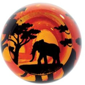 Caithness Glass Paperweight: On Safari - Elephant