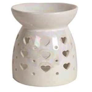 Aroma Wax Melt Burner: Lustre Hearts