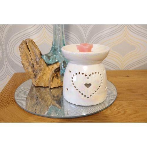 Aroma Wax Melt Burner: Lustre Heart AR1560
