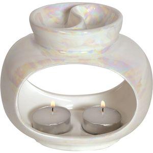 Aroma Wax Melt Burner: Lustre Oval Double