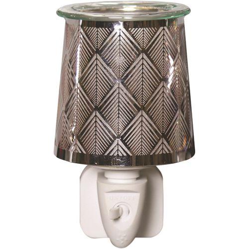 Aroma Wax Melt Burner Plug In - Metal Diamond AR1578