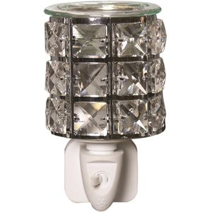 Aroma Wax Melt Burner Plug In - Metal & Crystal