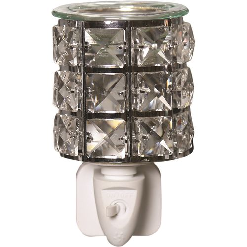 Aroma Wax Melt Burner  Plug In - Metal & Crystal AR1584