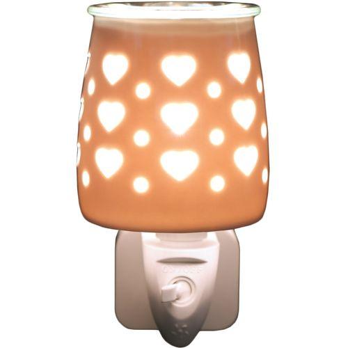 Aroma Wax Melt Burner Plug In - Ceramic Hearts AR1564