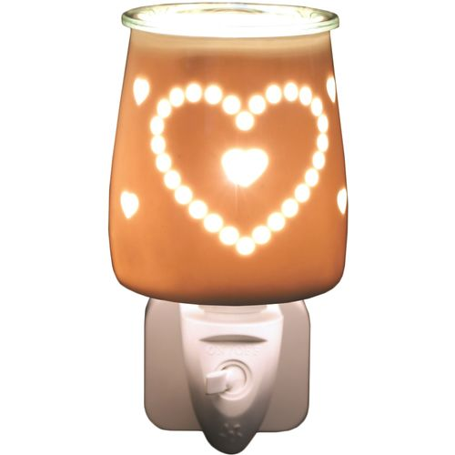 Aroma Wax Melt Burner Plug In - Ceramic Heart AR1566