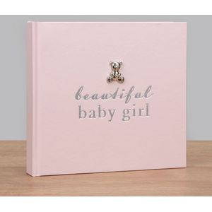 "Bambino Photo Album Holds 50 4"" x 6"" Prints - Beautiful Baby Girl"