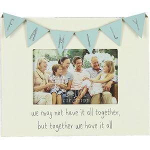 "Celebrations Love Life Bunting Photo Frame 6"" x 4"" - Family"