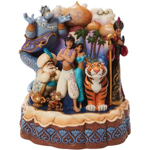 Disney Traditions Aladdin carved by Heart