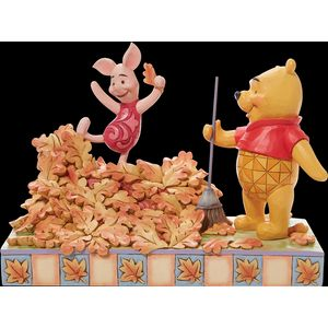 Disney Traditions Jumping into Fall (Piglet and Pooh) Autumn Leaves Figurine