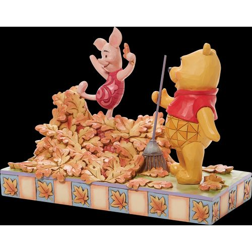 Disney Traditions Jumping into Fall (Piglet and Pooh) Autumn Leaves Figurine 6008990