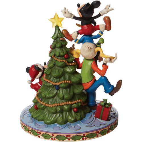 Disney Traditions Merry Tree Trimming Tree Fab 5 Decorating Illuminated Figurine 6008979
