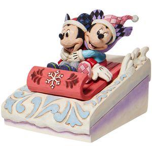 Disney Traditions Sledding Sweethearts (Mickey & Minnie Sledding) Figurine