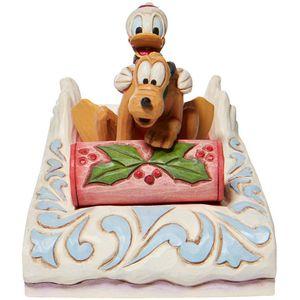 Disney Traditions A Friendly Race (Donald & Pluto Sledding) Figurine