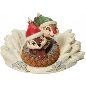 Disney Traditions Fun in the Snow (Chip & Dale Sledding) Figurine