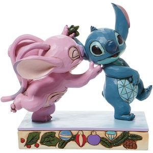 Disney Traditions Angel Kissing Stitch under the mistletoe