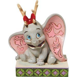 Disney Traditions Santa's Cheerful Helper (Flying Dumbo as a Reindeer) Figurine