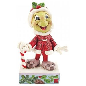 Disney Traditions Be Wise and Be Merry Christmas (Jiminy Cricket) Figurine